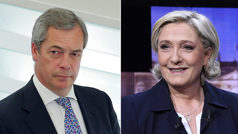 Ex-UKIP leader Nigel Farage has come out in full support of far-right French presidential candidate