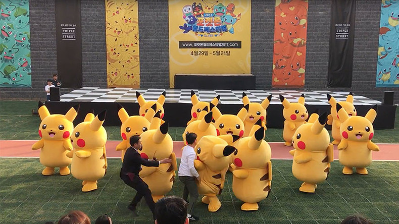 Dancing Pikachu dragged off stage after routine goes awry at Pokemon festival (VIDEO)