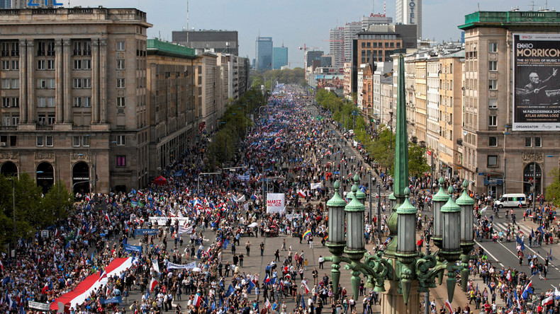 Thousands rally against Polish government in Warsaw  (VIDEOS, PHOTOS)