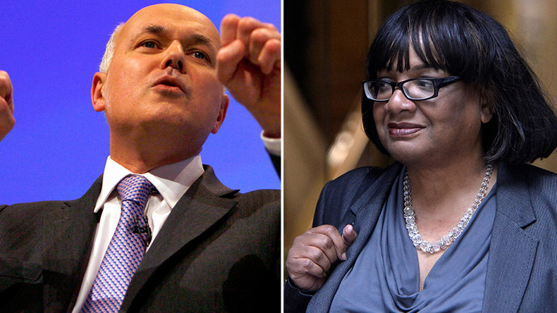 'Choking now, joking now!' Iain Duncan Smith raps Eminem to mock Diane Abbott (VIDEO)