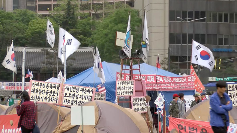 S. Korean ultranationalists attack Ruptly's producer in Seoul