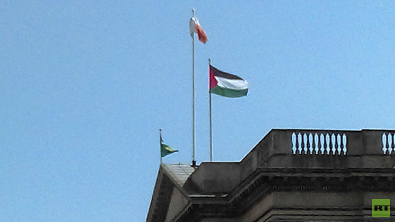 Palestinian flag flies over Dublin's City Hall in 'gesture of solidarity'