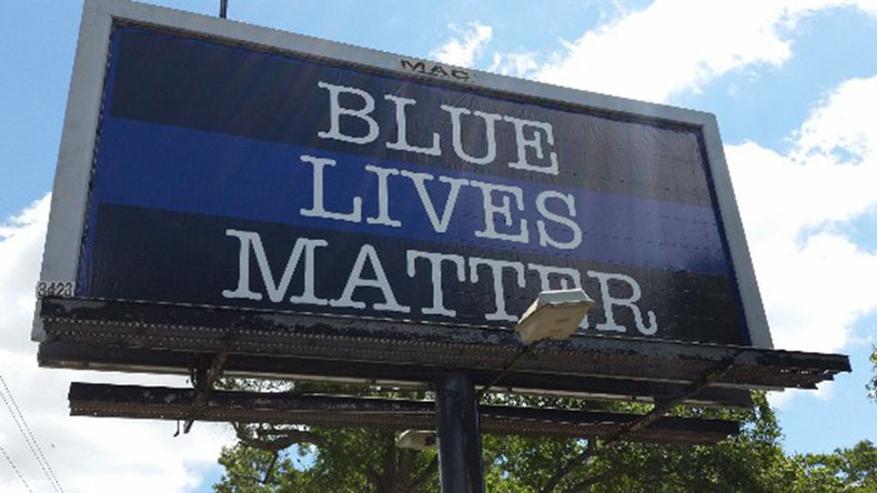 'Blue Lives Matter' billboard set up near scene of Charleston cop's killing of Walter Scott