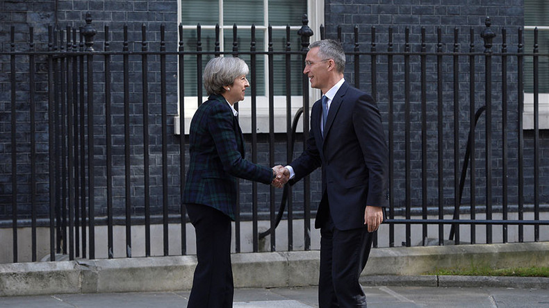 PM May hosts NATO chief amid calls to send more British troops into Afghanistan
