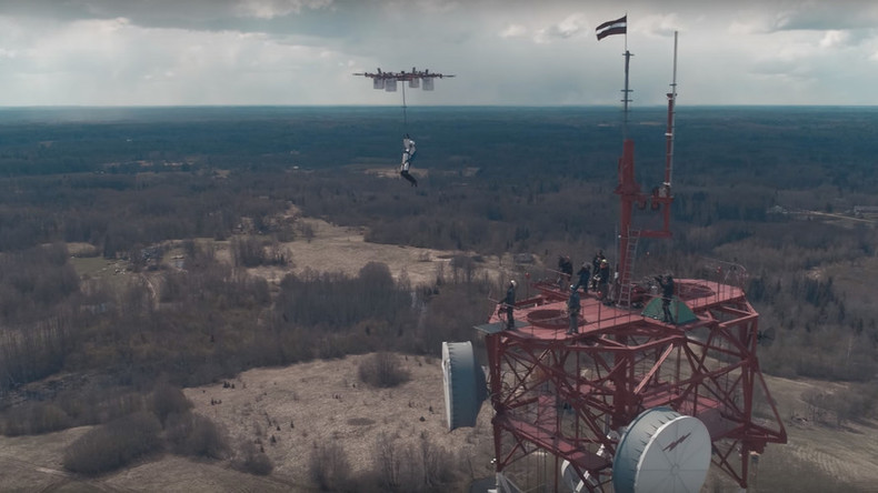 Latvian skydiver performs 1st ever drone jump (VIDEO)