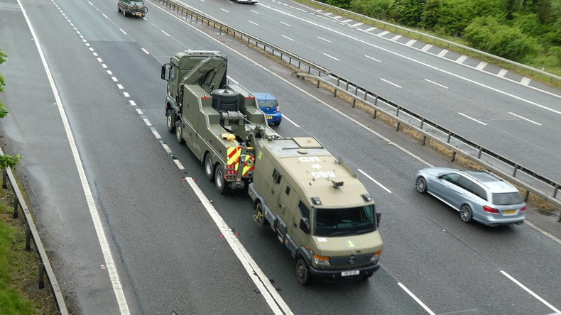 Convoy of nuclear warhead carriers 'breaks down' on public highway