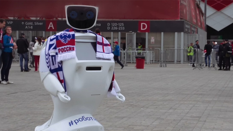 Bodyguard bot: Russian scientists invent security guard robot for England fans at 2018 World Cup