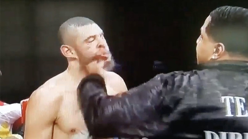 Boxer's uncle lands sickening sucker punch on opponent after illegal KO disqualification (VIDEO)