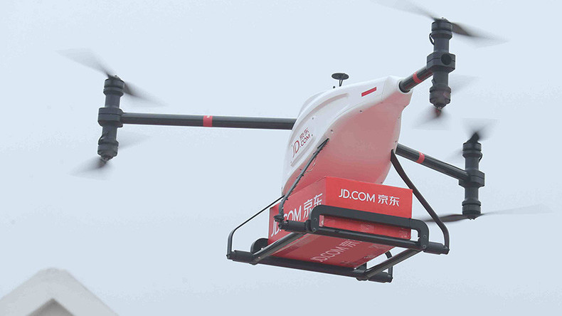 Drones capable of carrying 1-ton cargo part of Alibaba rival's grand project