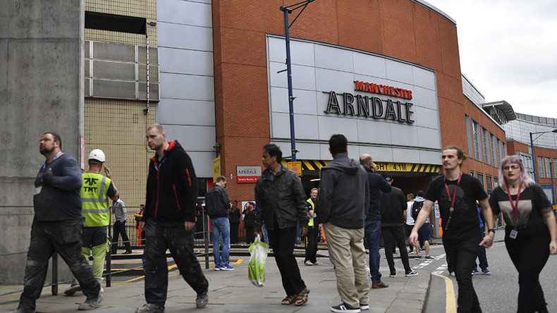 Manchester's Arndale shopping center evacuated hours after concert terrorist attack
