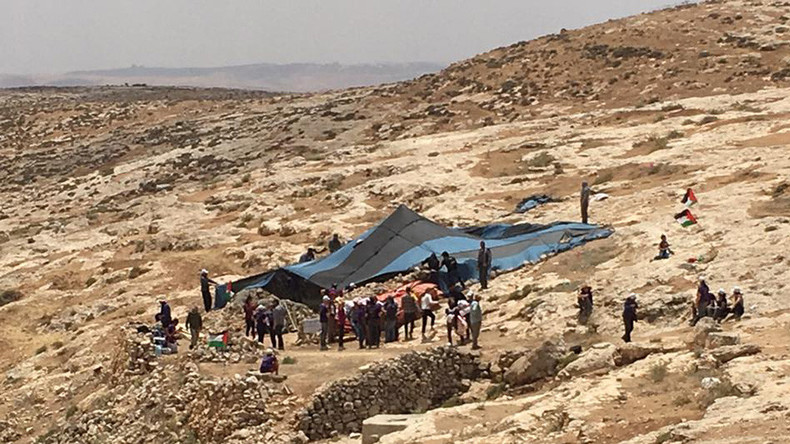 IDF dismantles anti-occupation encampment set up by activists in West Bank