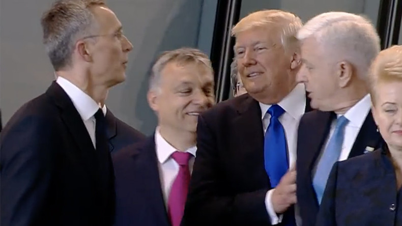 Montenegro manhandled? Video shows Trump shoving PM aside at NATO summit