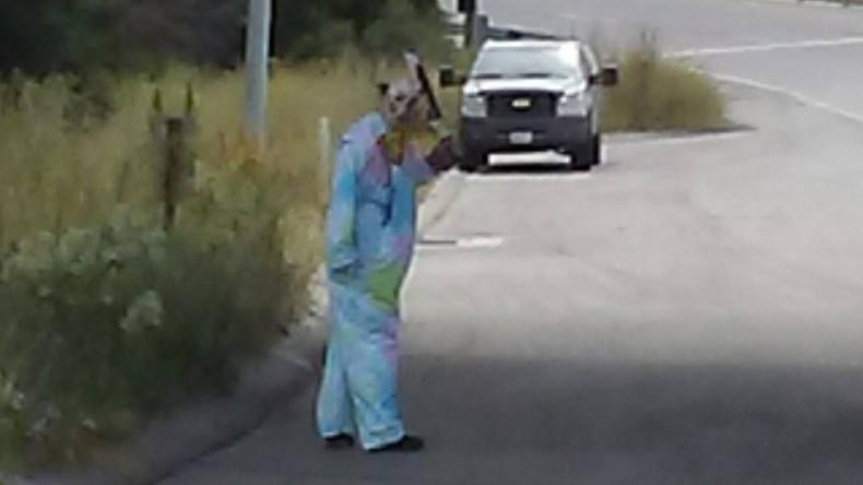 'Sick sense of humor': Clown with 'bloody' machete spooks California motorists