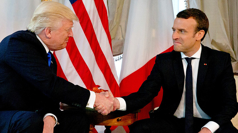 'Moment of truth': Macron admits Trump handshake 'wasn't innocent' (VIDEO)