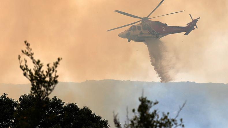 150 firefighters battle to douse LA blaze (PHOTOS, VIDEOS)