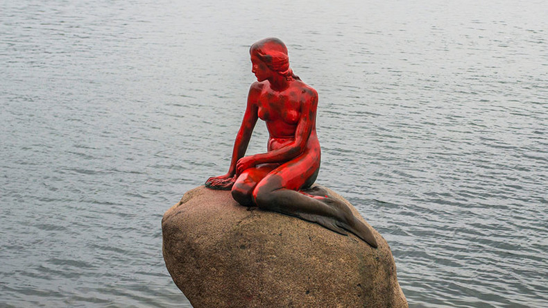 Copenhagen's 'Little Mermaid' statue vandalized over Faroe Islands whaling (PHOTOS)