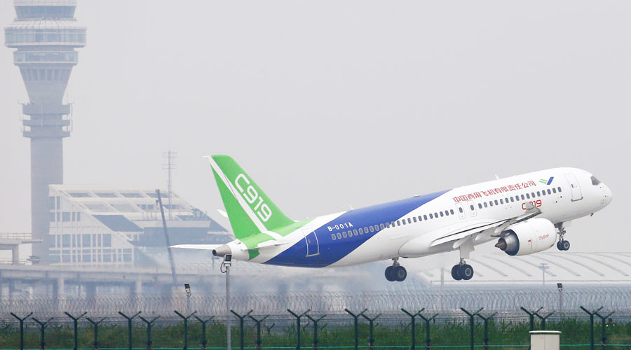 1st large Chinese-made passenger jet C919 takes flight, seeks to rival Boeing & Airbus