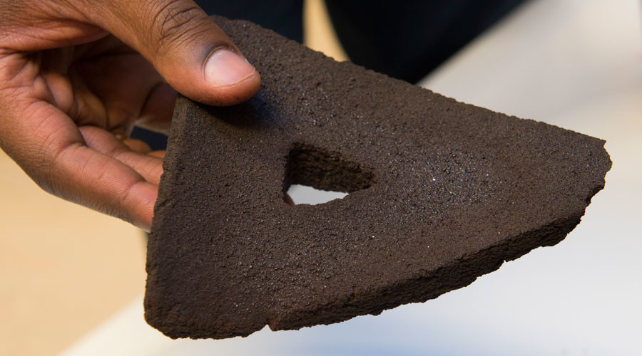 First-ever 'moon' bricks bring lunar colony a step closer (VIDEO)
