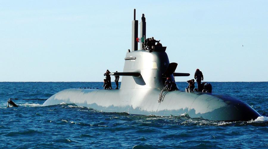 Italian submarine collides with cargo ship off Calabria coast - navy