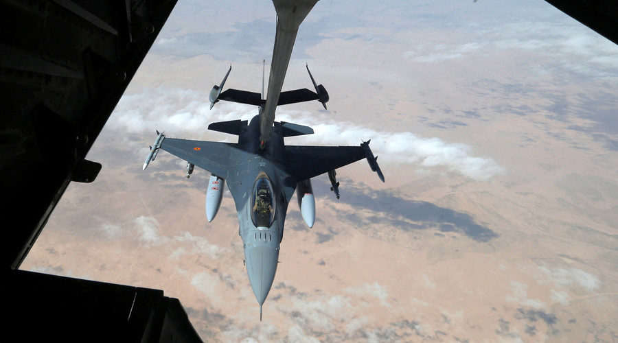 US-led airstrikes on Syrian forces hit tank & construction equipment, casualties likely