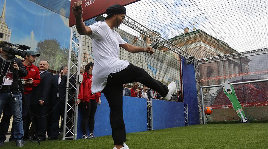 Russian football stars beat Ronaldinho-led FIFA legends on penalties in St. Petersburg