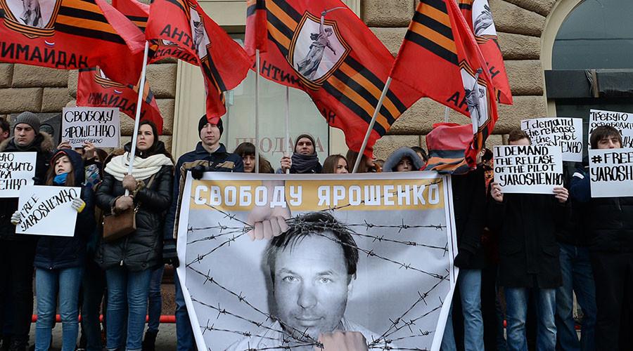 Russian ombudsman asks Trump to pardon pilot Yaroshenko