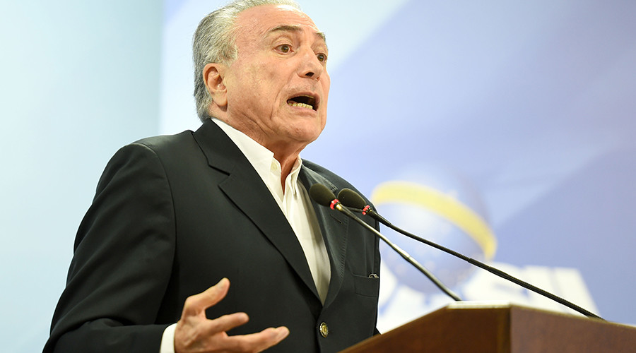 Beef with Temer: 'Brazilian President's supporters jumping ship, his days are numbered'
