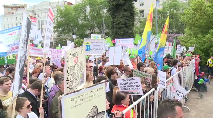 Hundreds rally against massive redevelopment project in Moscow (PHOTOS)