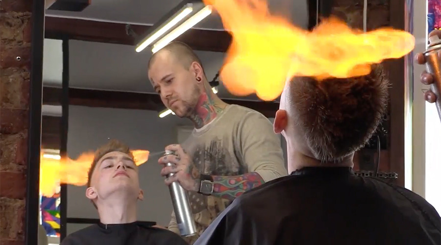 7 unconventional ways to get a haircut (VIDEOS)
