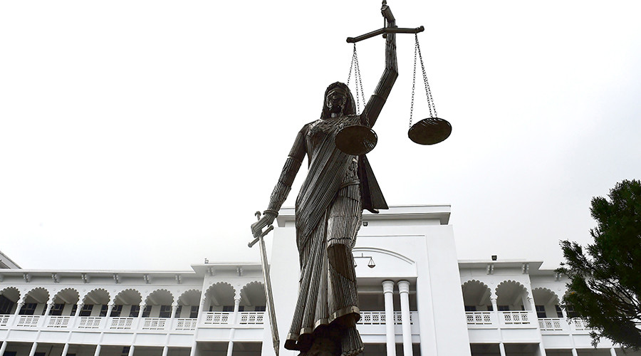 'Un-Islamic' Lady Justice statue reinstalled in Bangladesh after protests led to removal