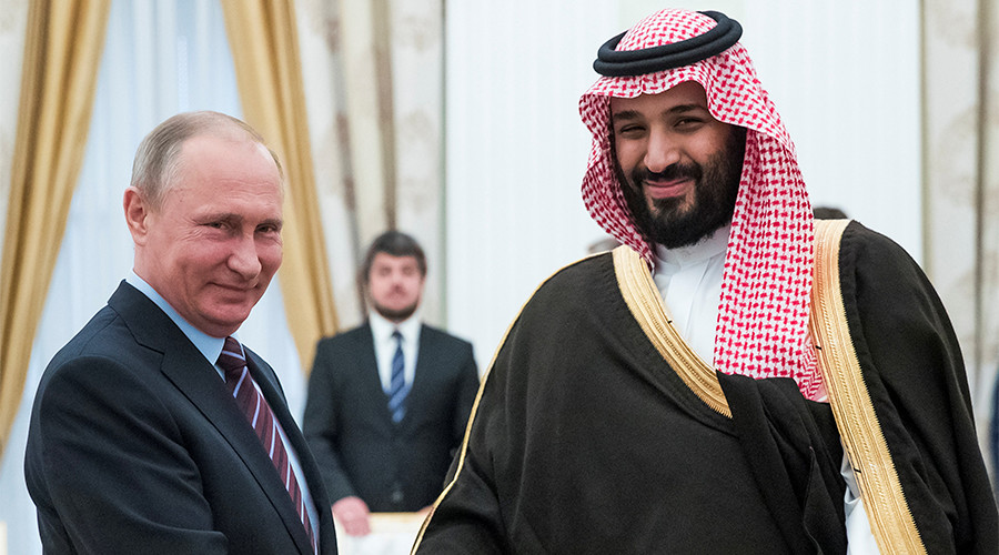 Putin meets Saudi Prince after oil production cuts deal extension