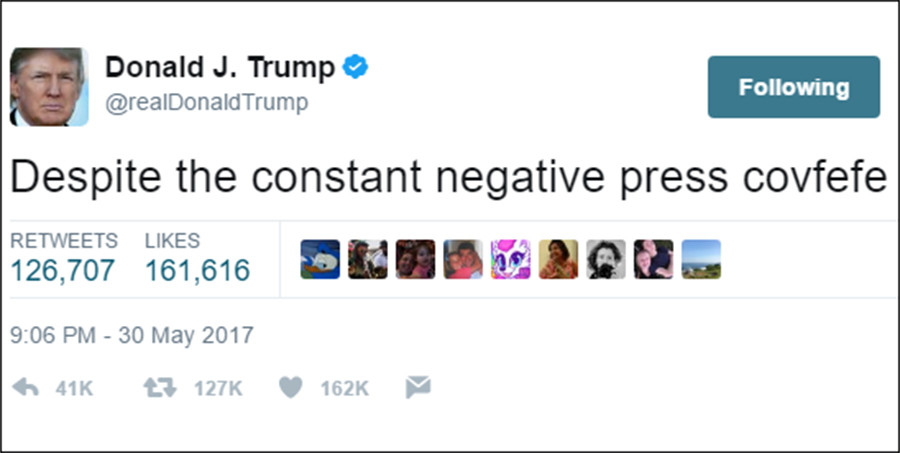 Trump tweet mystery: President's #Covfefe message triggers ...