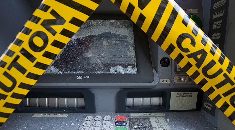 Blowtorch criminals set cash alight in bungled ATM robbery (PHOTO)