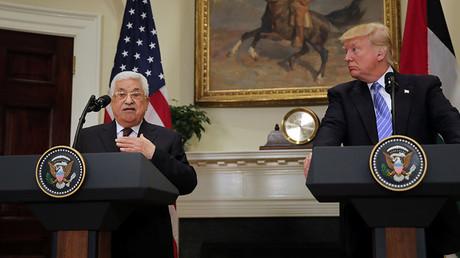 Palestinian President Mahmoud Abbas and US President Donald Trump © Carlos Barria