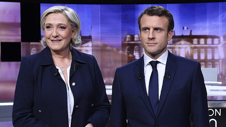 Emmanuel Macron (R) and Marine Le Pen © Eric Feferberg