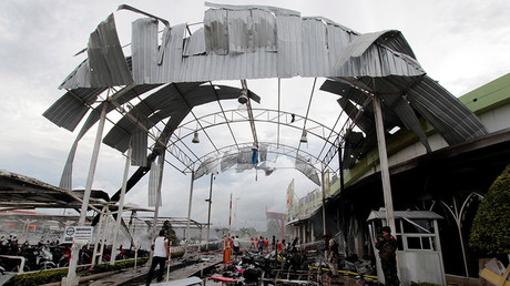 Over 50 wounded in double bombing outside supermarket in Thailand