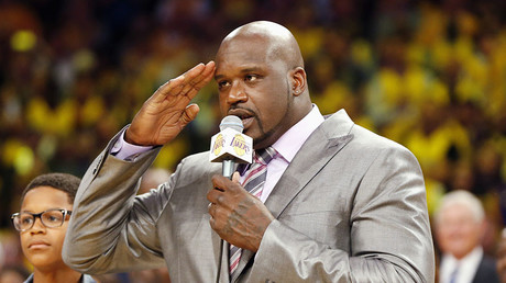Former Los Angeles Lakers' Shaquille O'Neal. © Danny Moloshok