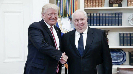 Russian Ambassador Sergey Kislyak and U.S. President Donald Trump. © Embassy of the Russian Federation to the United States of America