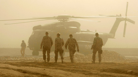 FILE PHOTO: A German Bundeswehr army CH-53 helicopter, Kabul © Fabrizio Bensch