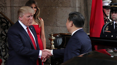 U.S. President Donald Trump and First Lady Melania Trump welcome Chinese President Xi Jinping, Florida, US© Carlos Barria