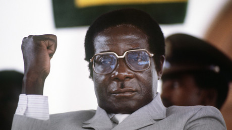 FILE PHOTO Zimbabwe's Prime Minister Robert Mugabe in July 1984 © ALEXANDER JOE