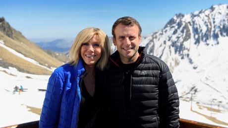 Emmanuel Macron and his wife Brigitte Trogneux © Eric Feferberg
