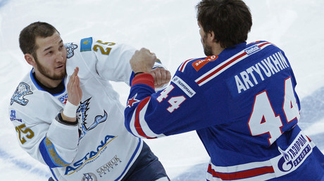 Young brawlers: Mass fight breaks out between junior hockey teams in south Russia (VIDEO)