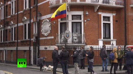 Ecuadorian Embassy in London where Assange is holed up