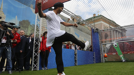 Russian football stars beat Ronaldinho-led FIFA legends on penalties in St. Petersburg