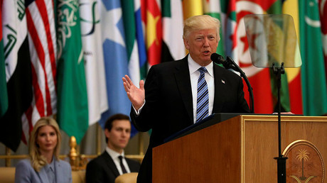 Trump talks tough on extremism in Middle East - but it's guns, oil, and money that matter