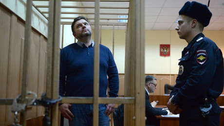 Former Governor of the Kirov Region Nikita Belykh seen at Moscow's Basmanny Court. © Valeriy Melnikov