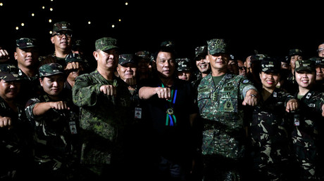 'It's just work, I have your back': Duterte makes rape joke while discussing martial law with troops