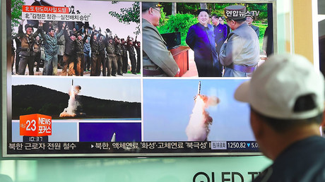 Pyongyang's short-range ballistic missile flies 450 km, lands in Sea of Japan
