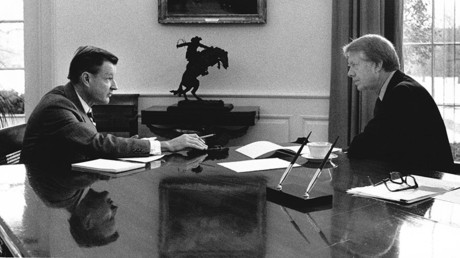 National Security Advisor Dr. Zbigniew Brzezinski meets with US President Jimmy Carter. January 21, 1977 ©Global Look Press